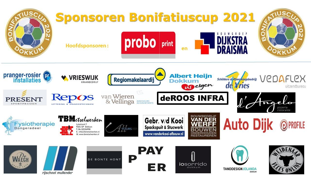 Overzicht sponsoren Bonifatiuscup 2021