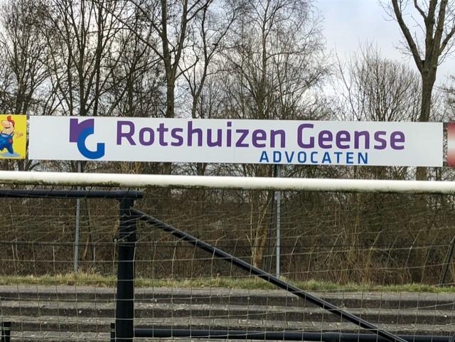 Rotshuizen Geense Advocaten uit Leeuwarden wordt bordsponsor bij Be Quick!